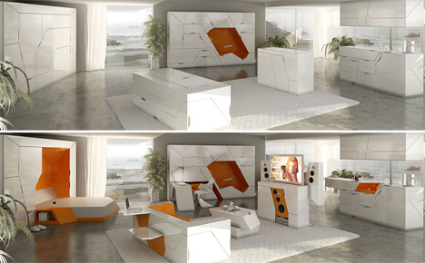 Transformer Apartment and Furniture - Biomimicry and Sustainability